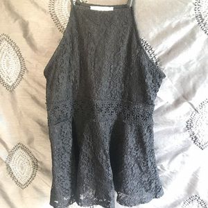Women's Fitted Lace Tank